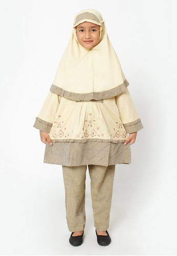Arafah beige Setelan Anak Muslim Clara C6380KAEF22FAAGS_1
