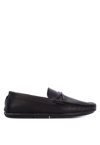 Preview black Moc Toe Loafers 5FF33SH9E7B146GS_1