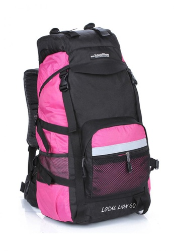 Local Lion pink Local Lion Steel Support Water Resistant Hiking Backpack L STEEL 60L (Pink) LO780SE18SVXMY_1