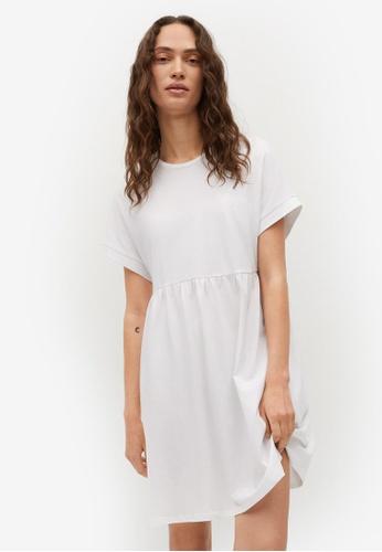 Mango white Frill Cotton Dress 8C80BAA9607C2DGS_1