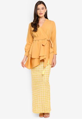Willow Kurung from FLEURÉ in Yellow