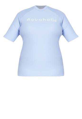 b32dc66cea8 Shop Aquaholic Jana Plus Size Short Sleeve Raglan Rash Guard Online on  ZALORA Philippines