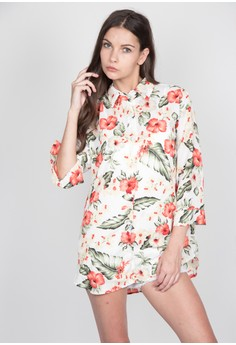 Lady's Floral Polo