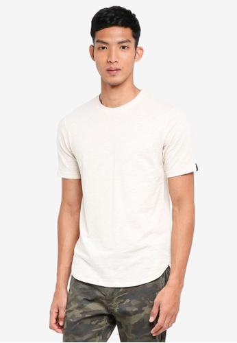 UniqTee 米褐色 素色短袖T恤 4BDBBAAB61B17FGS_1