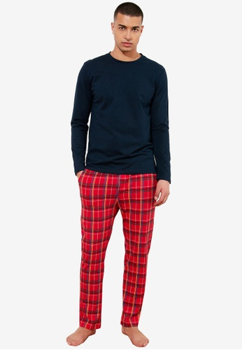 Trendyol multi Plaid Knitted Pajama Set 7AD18AACFEF8C8GS_1