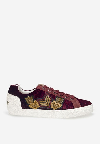 ASH red Nak Arms - Bordeaux Embroidered Patch Sneakers 83CA4SH370505EGS_1