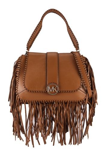 Michael Kors brown Lillie Medium Flap Shoulder Bag (oc) 461DCACBB711BAGS_1