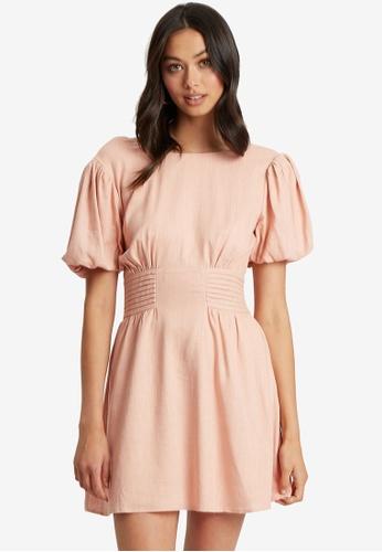 The Fated pink Savan Mini Dress 289D5AABD1BC7DGS_1