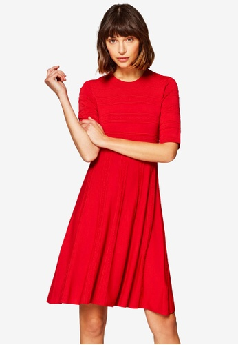 ESPRIT red Flat Knitted Mini Dress 6ECFAAA2D3CFC4GS_1