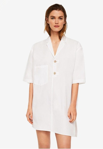 Mango white Committed Collection Oversize Organic Cotton Shirt 4F44EAAE935A06GS_1