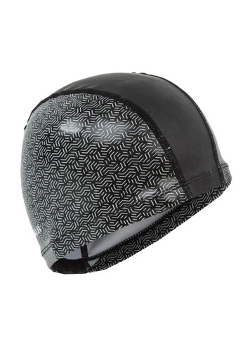Decathlon NABAIJI Swimming Cap Silicone-Mesh Printing Black - 8575424 77D7DSE7777565GS_1