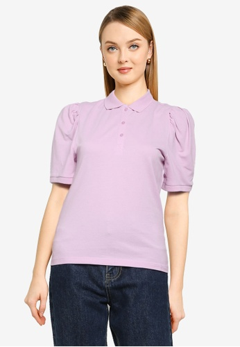 ONLY purple Janet Polo Top 30201AAA9C1284GS_1