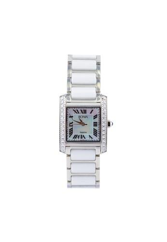 BONIA white and silver Bonia B10124-2351S - Jam Tangan Wanita - White Silver BO710AC83AYUID_1