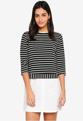 ZALORA multi Mixed Fabric Knit Shirt Dress BB1DFAA70E01F1GS_1