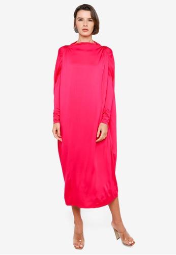 H&M pink Glossy Kaftan 6F232AA286E8EFGS_1