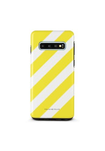 Polar Polar yellow Yellow Slash Dual-Layer Tough Case Glossy For Samsung Galaxy S10 DE832AC542F4A5GS_1