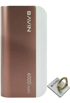 PC233 6000mah Power Bank with FREE Phone Ring Holder