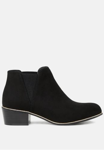 London Rag 黑色 粗跟Chelsea短靴 SH1735 10FA8SHD66CA28GS_1