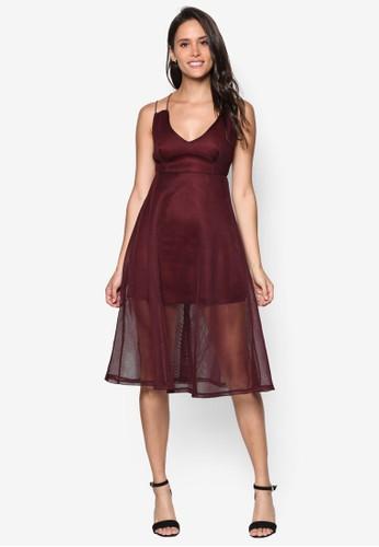 Airtex 雙肩帶薄紗層次洋裝, 服飾, esprit暢貨中心服飾