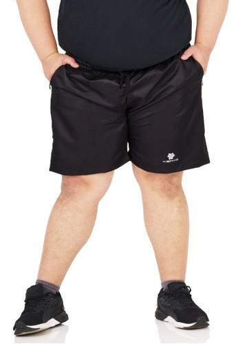 Tiento black Tiento Short Running Pants Big Size with Zipper Black Celana Pendek Jumbo Lari Resleting 278A2AA76F496DGS_1