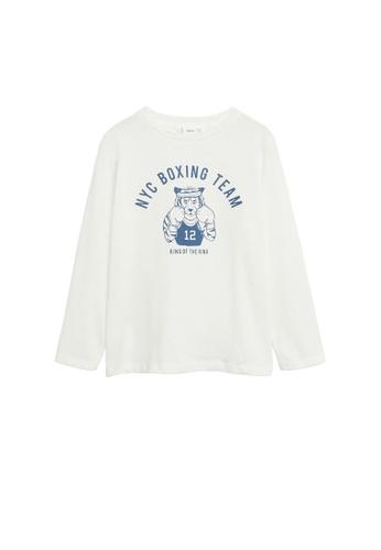 MANGO KIDS white Printed Long Sleeves T-Shirt F9BD1KA4DAD471GS_1