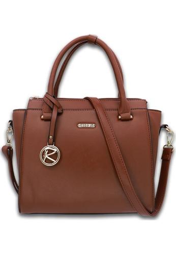 RUCINI brown Rucini Rochelle Satchel Handbag A45EBAC0CE6E2BGS_1