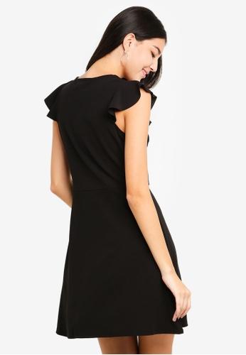 8c49de8eae Shop Dorothy Perkins Black Ruffle Detail Skater Dress Online on ZALORA  Philippines