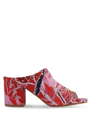 Nose red Printed Slide On Heels D5C12SH0EC4935GS_1