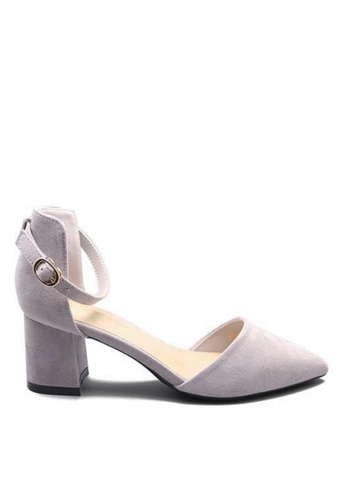Twenty Eight Shoes 紫色 尖頭中踭鞋883-1 38AE0SH30E7665GS_1