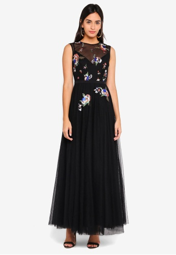 bf54ce6998a Buy Little Mistress Sequin Maxi Dress Online on ZALORA Singapore