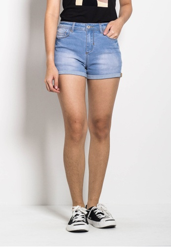 SUB blue Women Ripped Short Jeans 544A3AA3941186GS_1