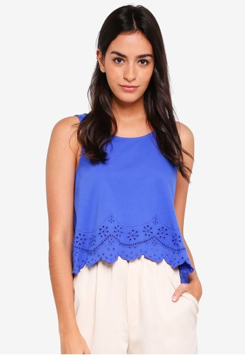 ONLY blue Anny Sleeveless Crop Top 970DFAA0A54286GS_1