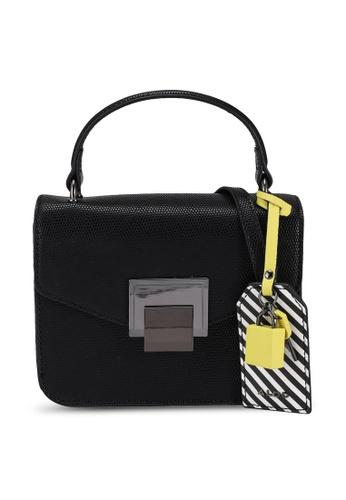 ALDO black Bugsy Top-Handle Bag 3BE8FACBF68D97GS_1