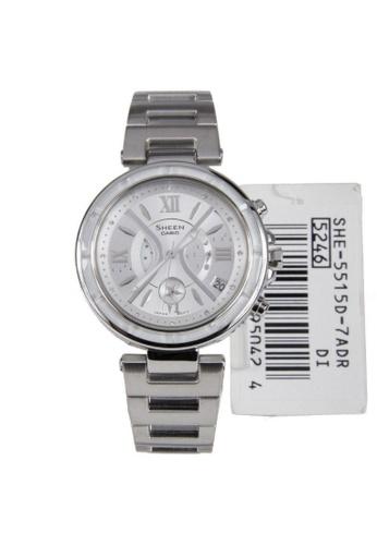 Casio silver CASIO SHEEN SHE-5515D-7ADR WOMEN'S WATCH 81D4EAC41DD38AGS_1