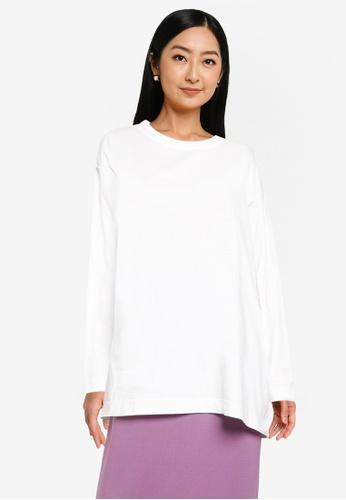 JEANASIS white Long Sleeve T-Shirt 3BBC8AAE486235GS_1