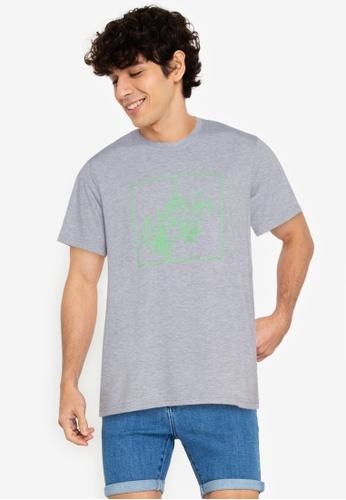 ZALORA BASICS grey Floral T-Shirt 199E6AA41C9959GS_1