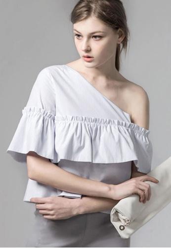 Sesura white Frilly Dreams Venus Top 79CDFAA5ACD8ECGS_1