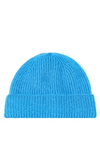 b79c74e9dbeff TOPSHOP blue Metallic Thread Fisherman Beanie A78E9ACE56CC0AGS 1