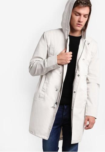 簡約棉質大衣夾克, 服飾,esprit門市地址 服飾