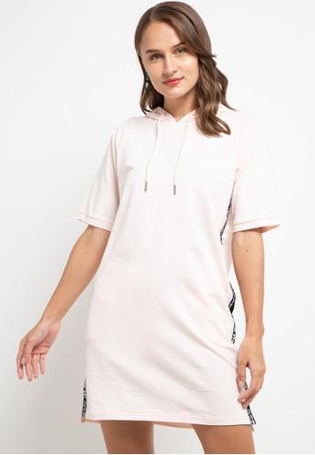 Giordano pink Women's Hoodie Raglan Dress 9255CAAFEEC7CCGS_1