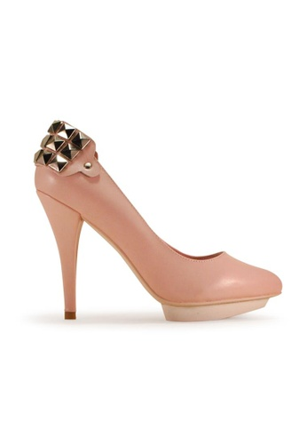 Gripz / MetalChic Pointed Toe High Heels / pink