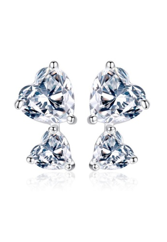 Vivere Rosse silver Vivere Rosse Double Happiness Stud Earrings 50726AC53B046BGS_1