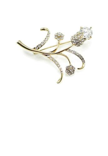 Glamorousky silver Elegant Brooch with Austrian Element Crystals 49224AC31C9637GS_1