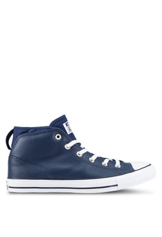 converse shoes black and blue. converse navy chuck taylor all star syde street sneakers co302sh0rnhimy_1 shoes black and blue