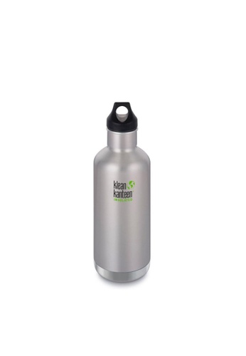 Klean Kanteen silver Klean Kanteen Insulated Classic Water Bottle 32Oz (With Loop Cap)(Brushed Stainless) 5150EAC83A8FB3GS_1
