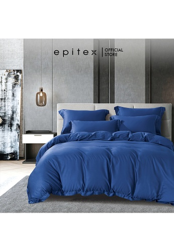 Epitex blue Epitex HOMME 1600TC Tencel Bedsheet - Fitted Sheet Set - Bedding Set - EHS2210 (Quartz Blue) 81FD0HLC26C7ABGS_1