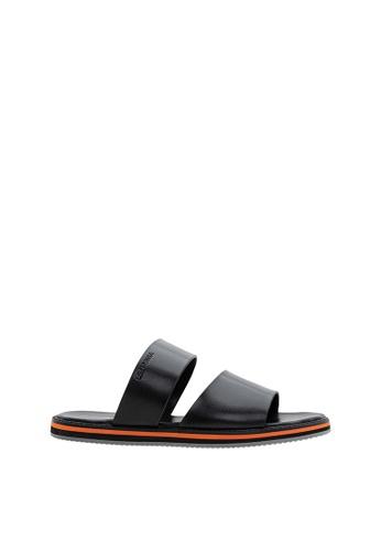 SEMBONIA black SEMBONIA Men Leather Slipper (Black) SE598SH0SZ85MY_1