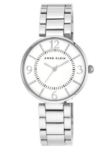 Anne Klein silver Anne Klein Women's  AK-1789SVSV Polished Silver-tone bracelet watch 97CBFACE542F71GS_1