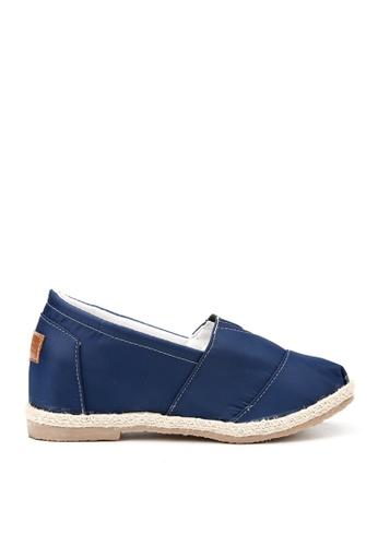 KissXXX 藍色 特殊防潑水純色美腿效果5CM內增高帆布休閒鞋 KI603SH09OFJTW_1