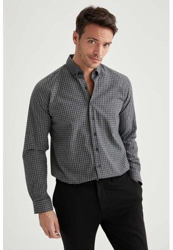 DeFacto grey Long Sleeve Shirt CC5F3AA0BEE279GS_1